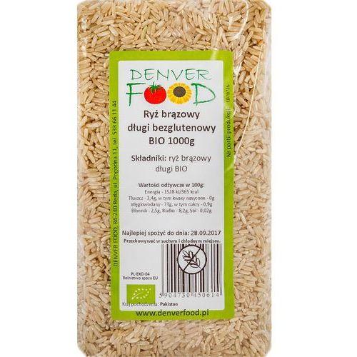 Ryż Brązowy Długi Bezglutenowy BIO 1 kg Denver Food, 5904730450614