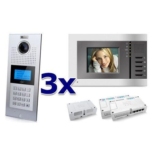 Zestaw wideodomofonowy 3 rodzinny Panel C5 C9E21L-C, 3x Monitor C5 V3, Akcesoria