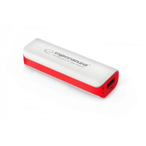 Esperanza  power bank joule 2200mah biało-czerwony (5901299910443)