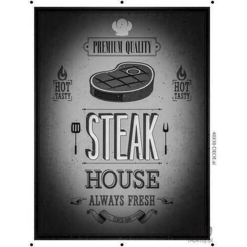 Obraz steak house black and white ptd072t2 marki Consalnet