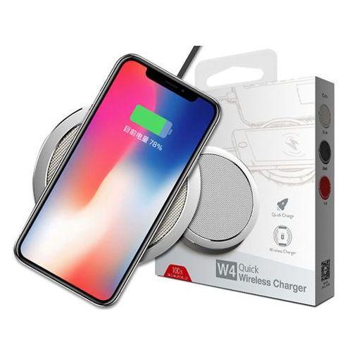 Ładowarka indukcyjna Qi Rock w4 quick charger srebrna - Srebrny