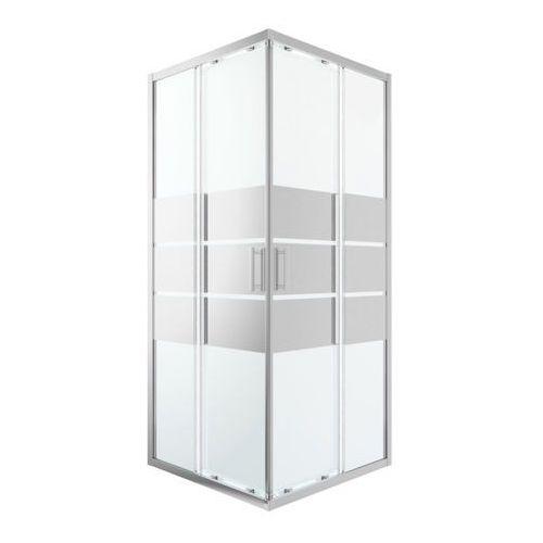 Cooke&lewis Kabina prysznicowa kwadratowa beloya 90 cm chrom/szkło lustrzane (3663602944676)
