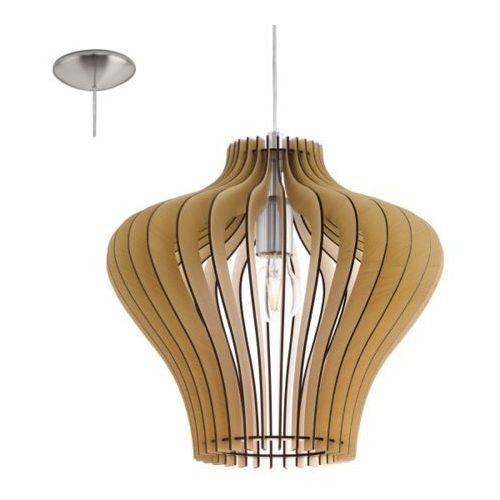 Eglo Lampa wisząca cossano odcień drewna, 95256