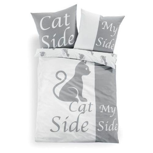 Pościel dwustronna z motywem kotów antracytowy marki Bonprix