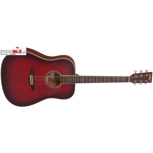 VINTAGE V501BGB - ACOUSTIC GUITAR, SATIN BURGUNDY