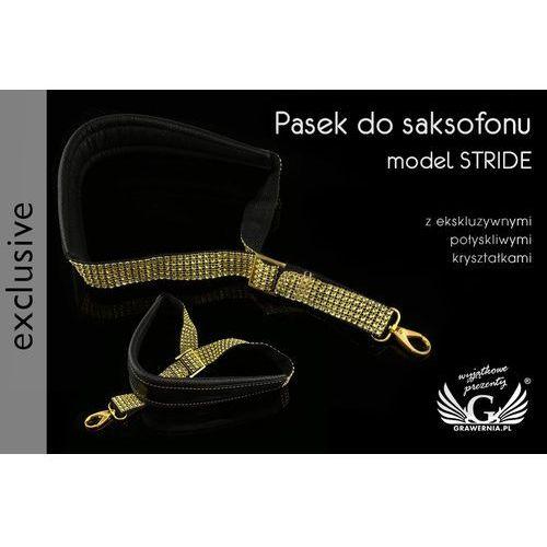 Grawernia.pl - grawerowanie i wycinanie laserem Pasek do saksofonu czarno-złoty - model stride - wersja exclusive - pds24