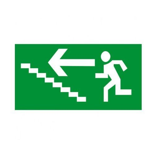 Kierunek drogi ewakuacyjnej schodami w górę w lewo marki B2b partner
