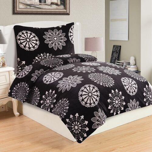 Pościel mikroplusz Coco Black, 140 x 200 cm, 70 x 90 cm