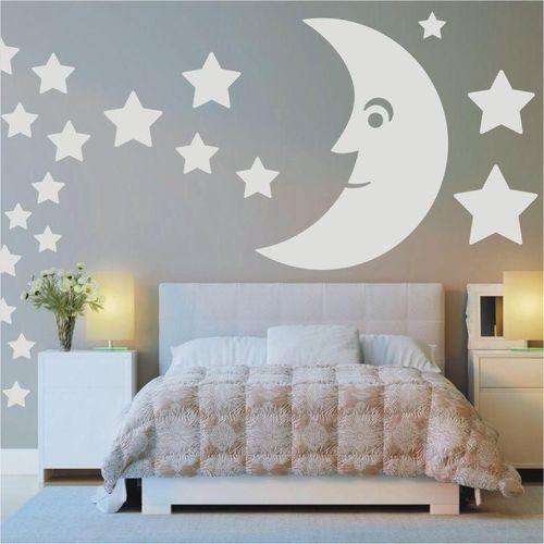 Naklejka welurowa zestaw księżyc gwiazdki 1398 marki Wally - piękno dekoracji