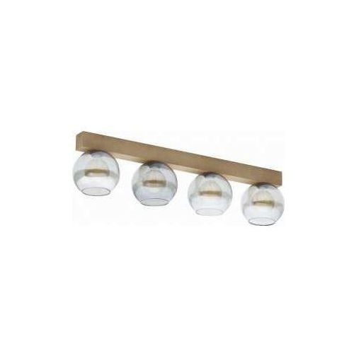 Tk lighting artwood glass 4257 plafon lampa sufitowa 4x60w e27 sosna/grafit marki Tklighting