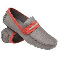 Mokasyny buty wsuwane BADURA 3083 Popielate - Popielaty ||Szary, kolor szary