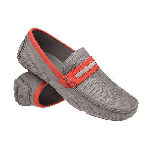 Mokasyny buty wsuwane BADURA 3083 Popielate - Popielaty ||Szary