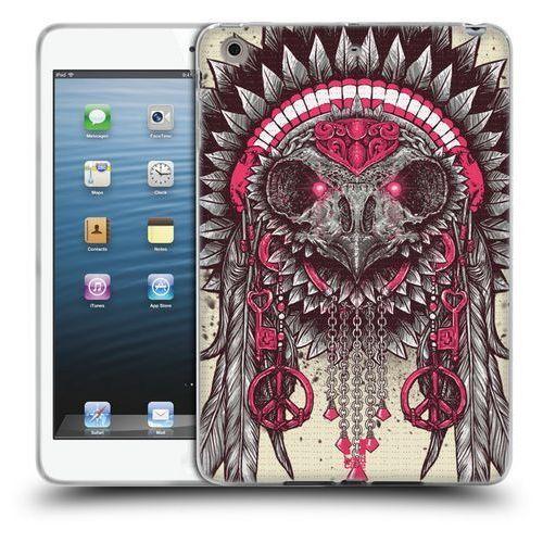 Etui silikonowe na tablet - Ethnic Owls PINK AND GREY