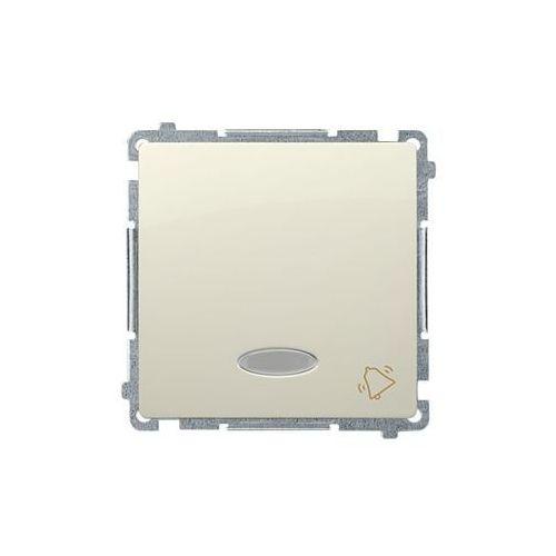 SIMON BASIC Przycisk dzwonek z podświetleniem (moduł) 10AX, 250V~, szybkozłącza; beż BMD1L.01/12 WMUL-091xxx-9011, BMD1L.01/12
