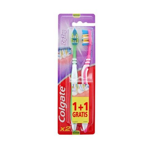COLGATE 2szt Zig Zag średnia Szczoteczka do zębów 1+1 gratis