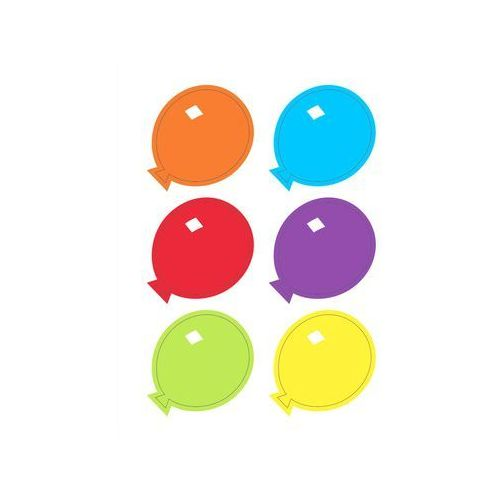 Naklejki na szklanki Baloniki - 6 elem. (0011179619504)