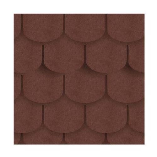 Gont bitumiczny karpiówka brązowy 3 m2 marki Izolmat