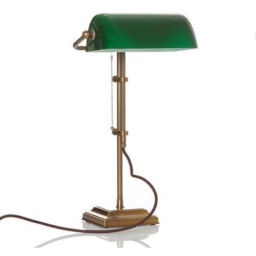 Prawdziwa lampa bankierska tulsi marki Berliner messinglamp