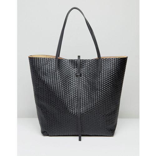 woven tote bag in black - black marki Glamorous