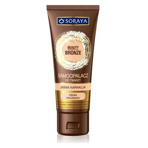 beauty bronze 75ml samoopalacz do twarzy jasna karnacja marki Soraya