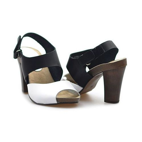 Sandały 0775/053-p czarny/ekri lico marki Karino