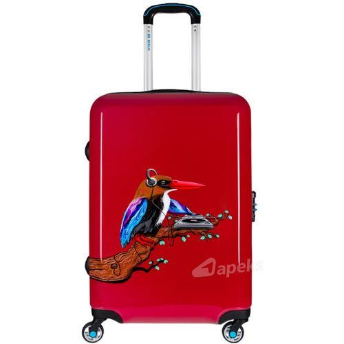 Bg berlin urbe średnia walizka na 4 kółkach / 67 cm / tropical sound 2 - czerwony