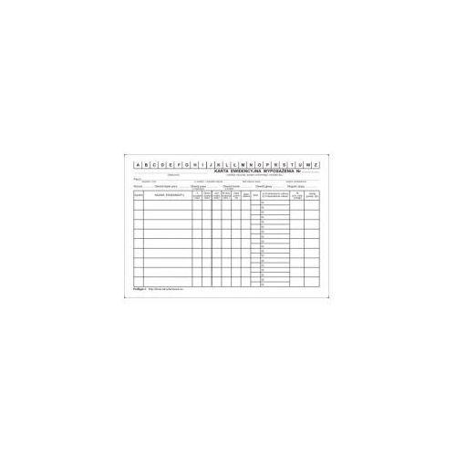 Karta ewidencyjna wyposażenia A5 [Pu/Bgm-1]
