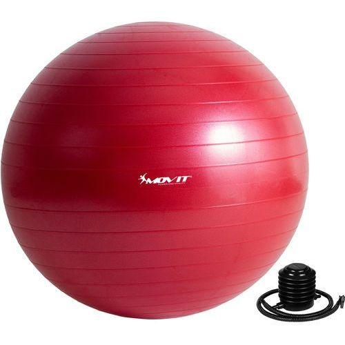 Movit ® Czerwona piłka fitness rehabilitacyjna 85 cm pompka - 85 cm / czerwony