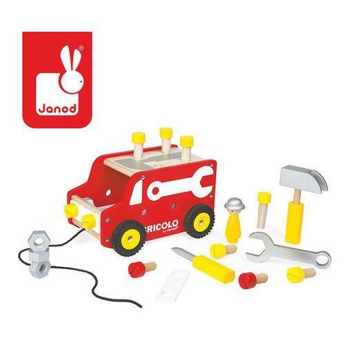 Janod Ciężarówka z narzędziami do ciągnięcia bricolo -