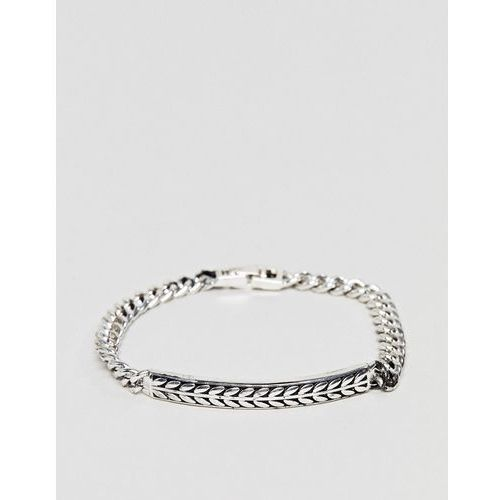 Icon Brand Premium antique silver id bracelet - Silver, kolor szary