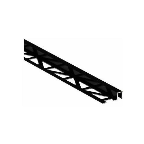 Profil wykończeniowy Aluminium kwadrat 9 X 8 mm / 2.5 m Czarny Cezar (5904584806971)