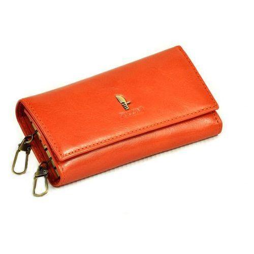 Etui na klucze długie  p-1626l orange - orange marki Puccini