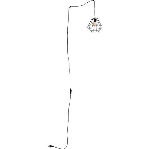 Lampa wisząca druciana zwis diament tk lighting diamond 1x60w e27 czarna 2202 marki Tklighting
