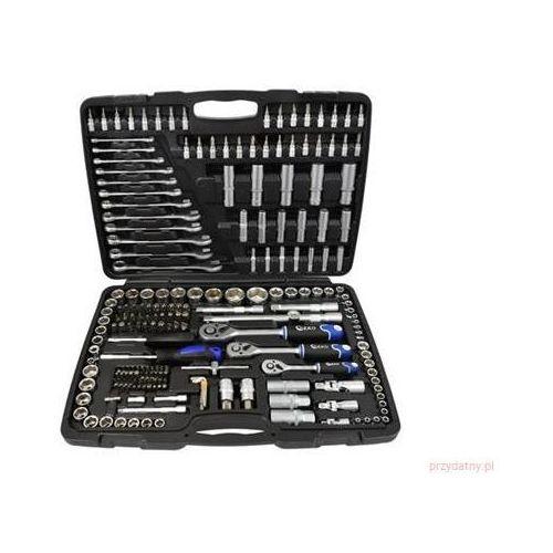 Zestaw narzędzi, kluczy warsztatowych 216 części GEKO, G10158