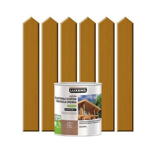 Luxens Lazura do drewna długotrwała ochrona i dekoracja drewna 0,75 ldąb średni (3276006109857)