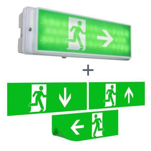 Nowoczesna prostokątna lampa wisząca wyjście awaryjne - emergency marki Elro