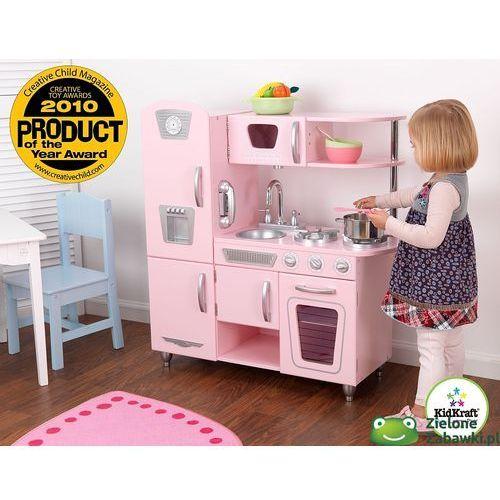 Kuchnia drewniana  Różowy vintage , KidKraft  kuchnie dla dzieci  -> Ikea Kuchnia Dla Dzieci Drewniana