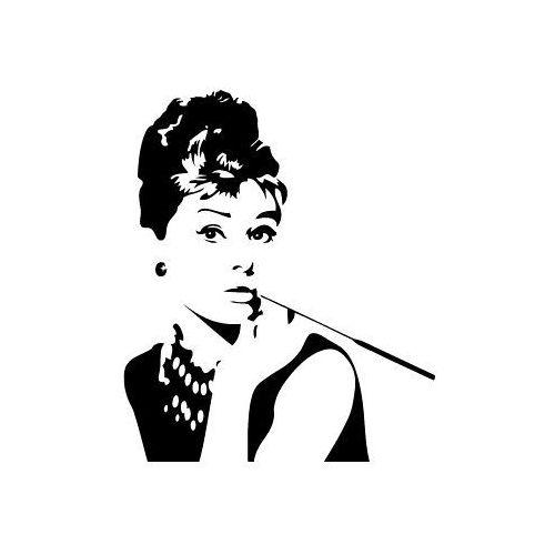 Naklejka na ścianę sylwetka 43 - Audrey Hepburn