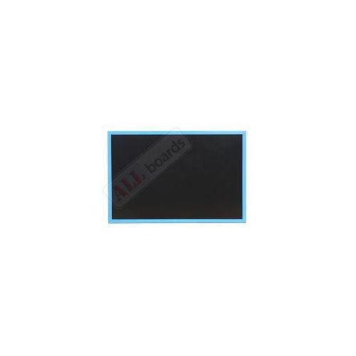 Tablica czarna kredowa w ramie drewnianej kolorowej 60x40 cm - niebieska marki Allboards