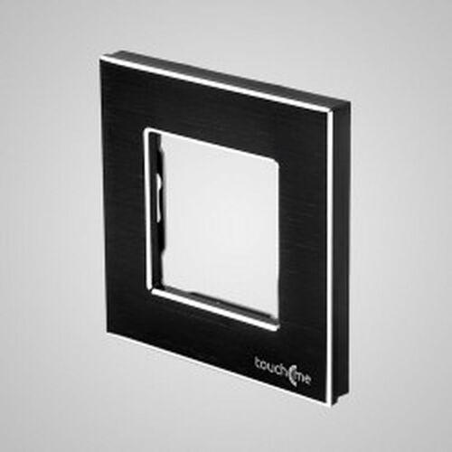 TouchMe Ramka pojedyncza aluminiowa czarna TM628B, kolor czarny
