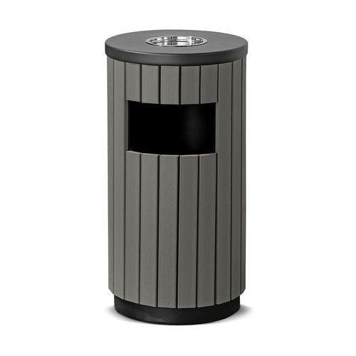 Pojemnik na odpady MURRAY, z popielnicą, Ø 320x490 mm, 33 L, szary