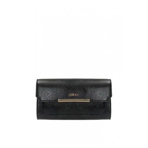 Czarna kopertówka wieczorowa ze wzorem - marki Nobo