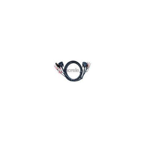 Kabel KVM Aten DVI-I/USB, Audio - 3 m 2L-7D03UI Darmowy odbiór w 20 miastach!, kup u jednego z partnerów