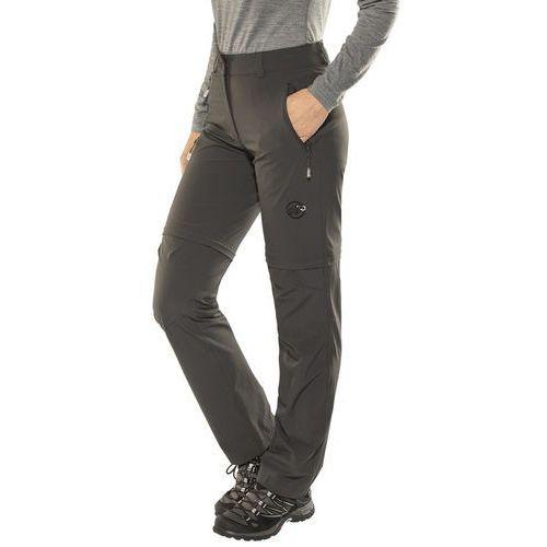 runje spodnie długie kobiety regular szary de 38 2018 spodnie z odpinanymi nogawkami marki Mammut