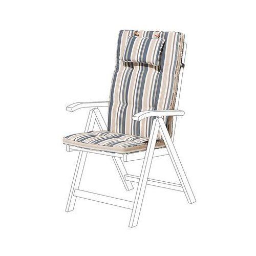 Poducha na krzesło TOSCANA niebiesko-beżowe pasy