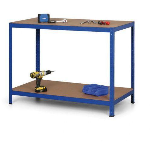 B2b partner Stół warsztatowy, półki mdf, 900 x 1200 x 600mm