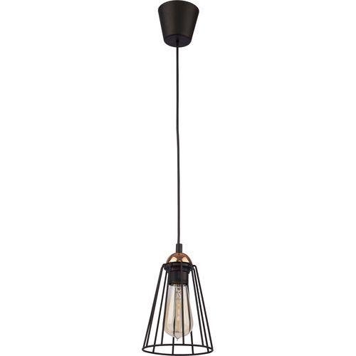 Tklighting Lampa wisząca zwis oprawa druciana tk lighting galaxy 1x60w e27 czarna/ miedź 1641
