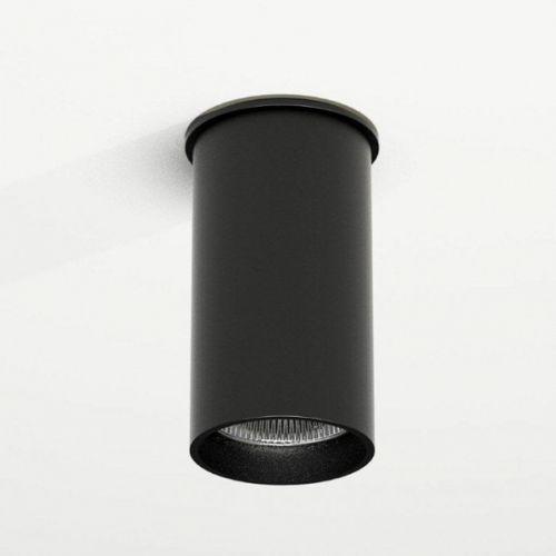 Downlight LAMPA sufitowa ARIDA 1109/GU10/CZ Shilo reflektorowa OPRAWA do łazienki tuba czarna, kolor Czarny