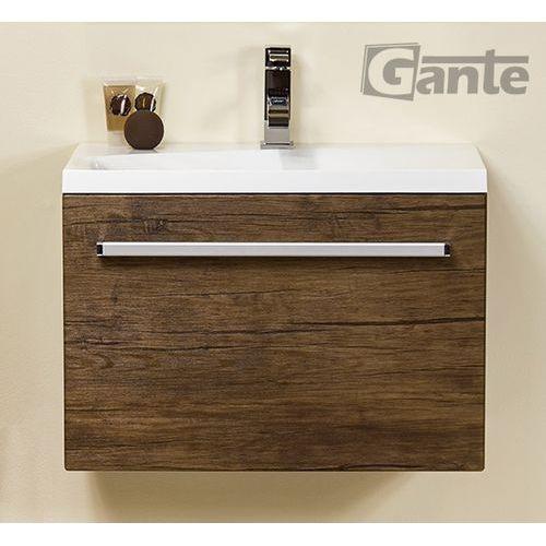 Szafka wisząca z umywalką 60/39/39 seria fokus ad marki Gante