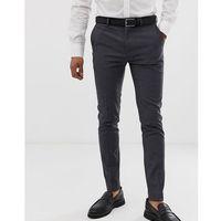 Burton Menswear super skinny fit stretch smart trousers in grey - Grey